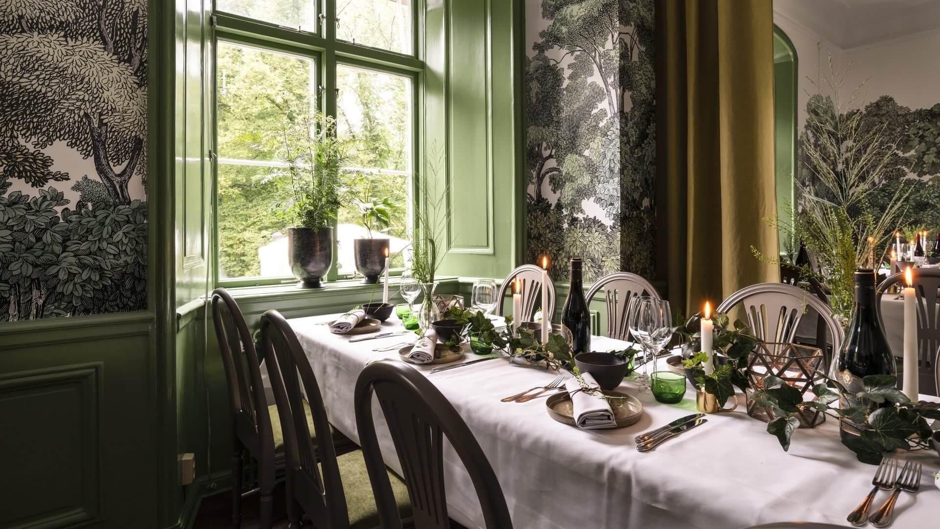 Dukning i Skog, slottets matsal
